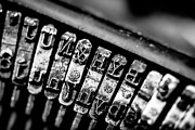 Typewriter Keys Framed Prints - Corona Four Typewriter Detail Framed Print by Jon Woodhams