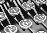 Typewriter Keys Prints - Corona Zephyr Typewriter Keys Print by Jon Woodhams