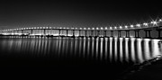 Coronado Framed Prints - Coronado Bay Bridge Framed Print by Ryan Hartson-Weddle