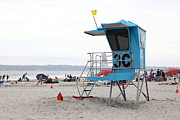 Lifeguard Shack Posters - Coronado Beach In Coronado California 5D24280 Poster by Wingsdomain Art and Photography