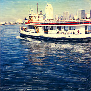 Shores Mixed Media - Coronado Ferry by Glenn McNary