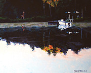 Hotel Painting Originals - Coronado Springs Across The Lake 6am  by Charlie Spear
