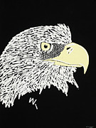 Eagle Drawing Mixed Media - Correction Tape Eagle by Nathan Shegrud