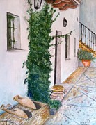 Spanish House Paintings - Cortijo Las Duchas by Asuncion Purnell