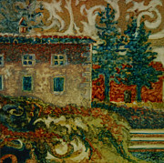 Villa Paintings - Cortona - Villa Ruffi by Robyn Ryan