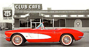 Car-club Posters - Corvette Club Cafe Poster by Unknown