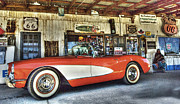 Vintage Iron Prints - Corvette Dreams Print by Bob Christopher
