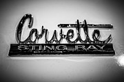 1960 Photos - Corvette Sting Ray Emblem by Paul Velgos
