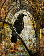 Judy Wood Digital Art Posters - Corvid Arch Poster by Judy Wood