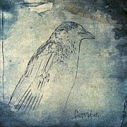 Starlings Digital Art Posters - Corvidae Poster by Gothicolors And Crows