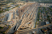Aerial Originals - Corwith Intermodal Rail Yard Chicago by Steve Gadomski