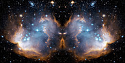 Outer Space Metal Prints - Cosmic Butterfly Metal Print by The  Vault