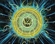 Cosmic Circle Fusion Print by Shawn Dall