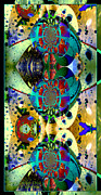 Integral Mixed Media Posters - Cosmic Cuckoo Clock Poster by Robert Kernodle