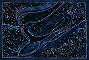 Constellations Mixed Media Posters - Cosmic Dancer by jrr Poster by First Star Art