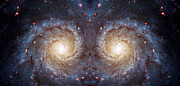 Telescope Images Posters - Cosmic Galaxy Reflection Poster by The  Vault