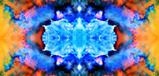 Nebulas Prints - Cosmic Kaleidoscope 1 Print by The  Vault - Jennifer Rondinelli Reilly