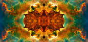 Telescope Framed Prints - Cosmic Kaleidoscope 2  Framed Print by The  Vault - Jennifer Rondinelli Reilly