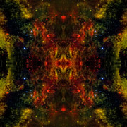 Mandala Photos - Cosmic Kaleidoscope  4  by The  Vault - Jennifer Rondinelli Reilly