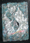Silver Turquoise Mixed Media - Cosmic Keyhole by Asha Carolyn Young