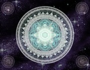 Heavenly Body Posters - Cosmic Medallions Water Poster by Shawn Dall