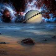 Alien Worlds Prints - Cosmic Skies Print by Bill  Wakeley