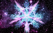 Heavenly Body Prints - Cosmic Starflower Print by Shawn Dall