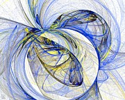 Action Lines Digital Art - Cosmic Web 5 by Jeanne Liander