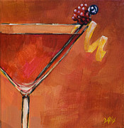 Cocktails Paintings - Cosmopolitan by Sue  Darius