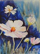 Impressionisttic Paintings - Cosmos At Peace by Dodie Davis