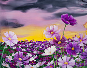 Azalea Bush Paintings - Cosmos Dawn by Wendy Wilkins