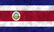 Costa Digital Art Prints - Costa Rica Flag Print by World Art Prints And Designs
