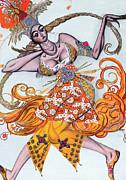 Costume Design For A Pas De Deux Danced Print by Leon Bakst