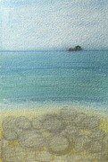 Cornwall Pastels Prints - Cot Valley Rocks 3 Print by Tamsin Maund