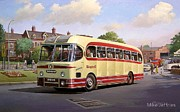 Bus Paintings - Cotswold tour 1957 by Mike  Jeffries