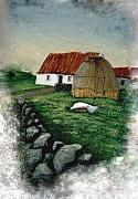 Stonewall Paintings - Cottage and Haystack by Barbara McDevitt