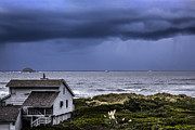 Country Cottage Photos - Cottage at the Sea by Debra and Dave Vanderlaan