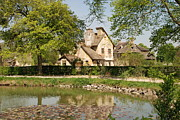 Country Scene Photo Prints - Cottage in the Hameau de la Reine Print by Jennifer Lyon