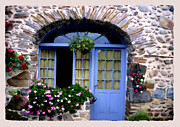 France Doors Digital Art Framed Prints - Cottage in Village St Jean les Buzy Framed Print by Linda  Parker