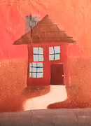 Brown House Pastels Prints - Cottage Print by Joshua Maddison