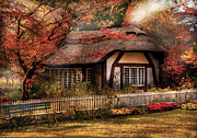 Autumn Scenes Prints - Cottage - Nanas House Print by Mike Savad