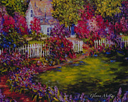 Glenna Mcrae Framed Prints - Cottage of My Hearts Delight Framed Print by Glenna McRae