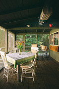 Charming Cottage Prints - Cottage Screened Porch I Print by Harold E McCray