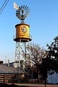 Train Rides Prints - Cotton Belt Route Water Tower in Grapevine Print by Kathy  White