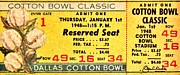Methodist Posters - Cotton Bowl 1948 Poster by Benjamin Yeager