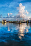 Florida Bridges Prints - Cotton Candy Print by Debra and Dave Vanderlaan