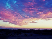 Southwestern Posters - Cotton Candy Sunset Poster by JaqStone