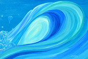 Surfing Art Painting Originals - Cotton Candy by Tamara Kapan