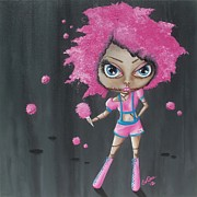 Lowbrow Posters - Cotton Candy Zombie Poster by Oddball Art Co by Lizzy Love