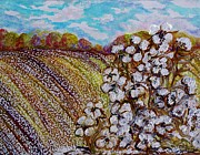 Autumn Scenes Mixed Media - Cotton Fields in Autumn by Eloise Schneider